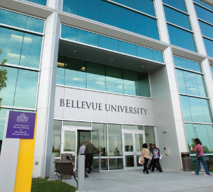Front of Bellevue University Campus